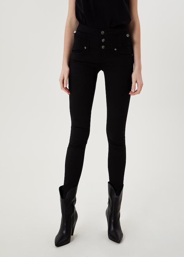the best attitude b6375 2630e Jeans taille haute bottom up Rampy WX029D3092 Liu JO ...
