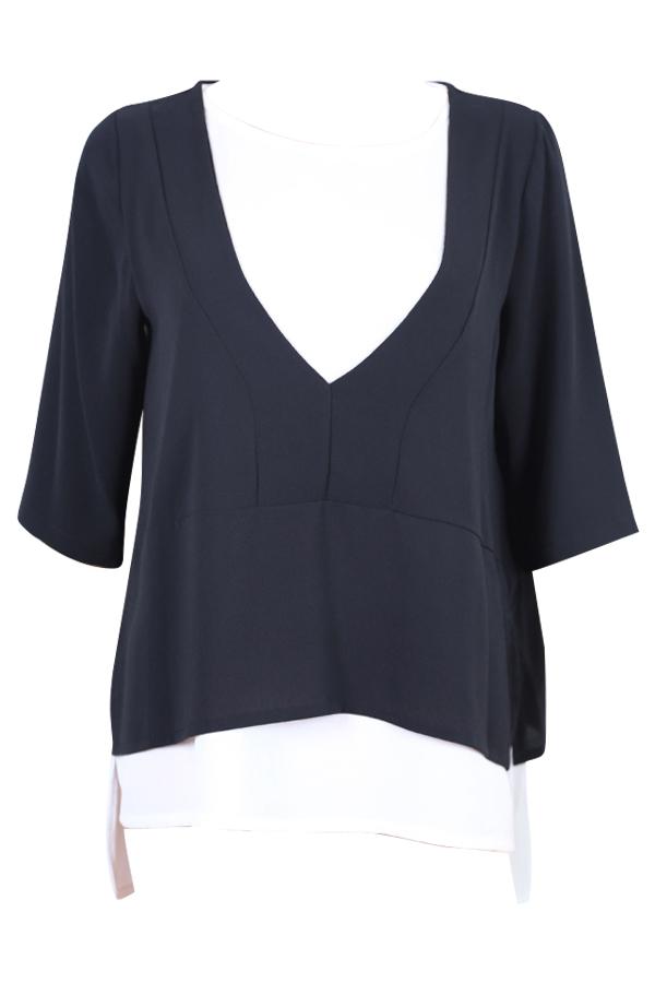 T shirt la f e marabout e fa5690 en cr pe noir et blanc disponible sur eshop - Fee maraboutee eshop ...