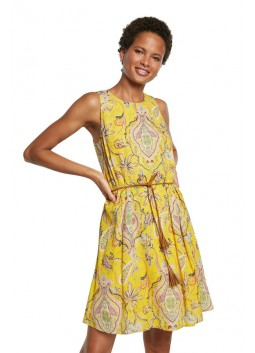 Robe Adriana jaune Desigual 21SWVWAX